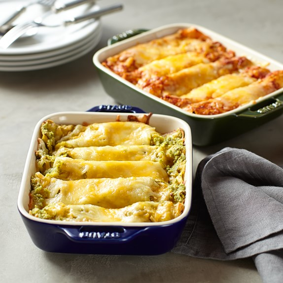 Beef and Chicken Enchilada Casserole, Set of 2