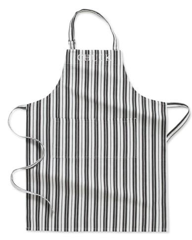 Personalized Stripe Apron, Black