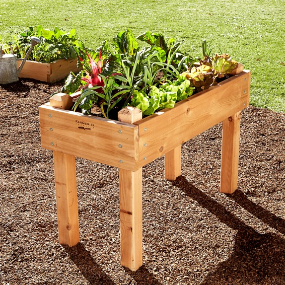 Farmer D Cedar Beds On Legs Kit, 2' X 4' with 3' Leg