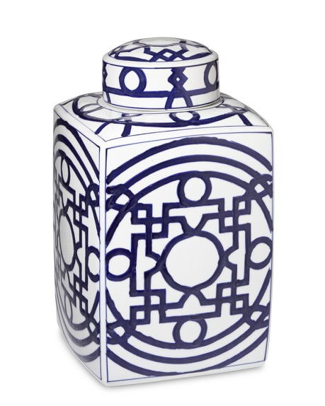 Geometric Porcelain Jar