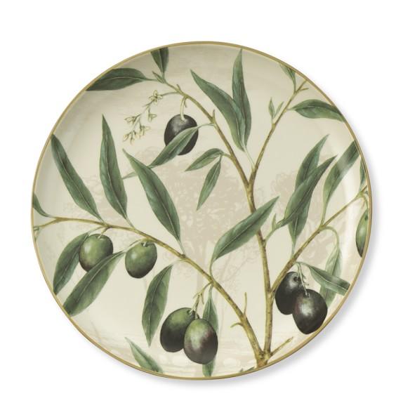 Olive Branch Round Platter