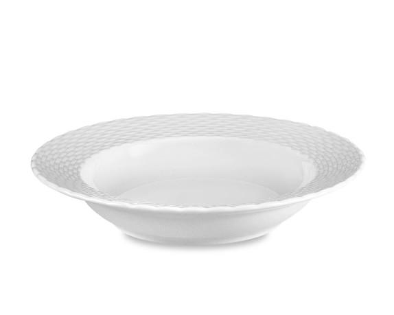 Pillivuyt Basketweave Porcelain Soup Plates, Set of 4