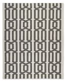 Graphic Link Indoor/Outdoor Rug , 8' X 10', Gray/ Egret