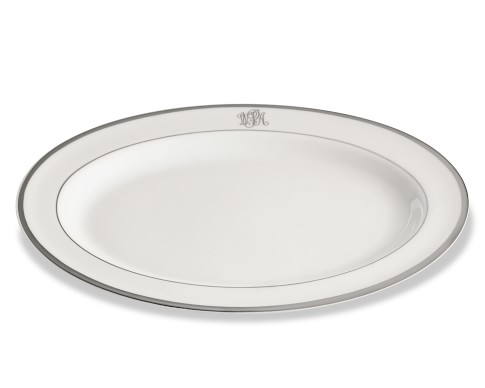 Pickard Signature Monogram Oval Platter, Platinum