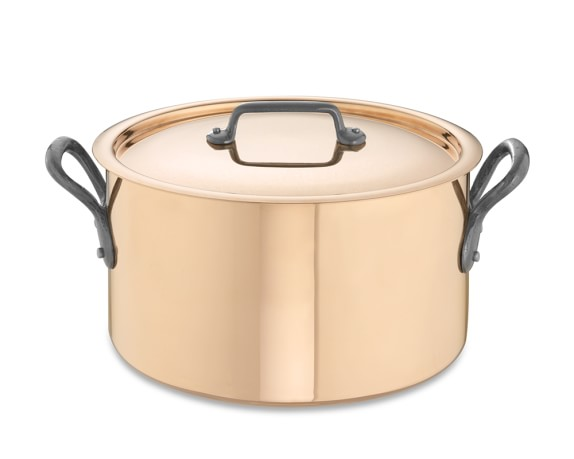 Mauviel M250 Copper Soup Pot, 5 1/2-Qt.