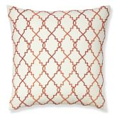 Beaded Moroccan Gate Pillow Cover, 22
