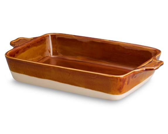 Emile Henry Artisan Rectangular Baker, Caramel