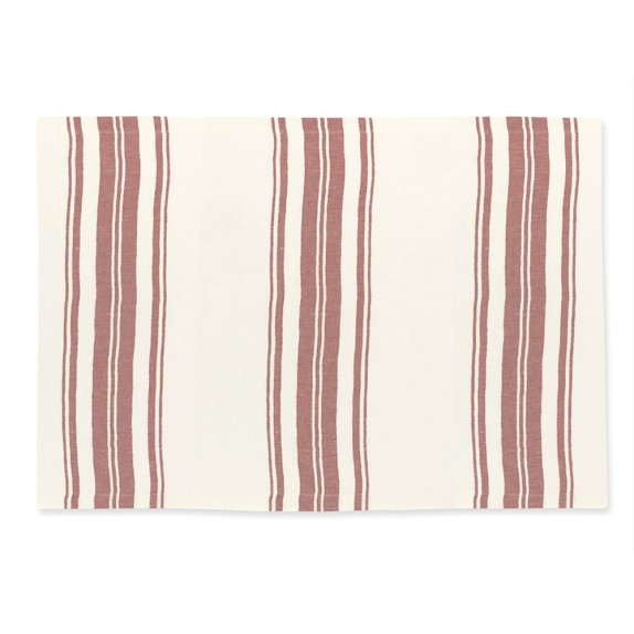 French Stripe Place Mats, Set of 4, Grapevine