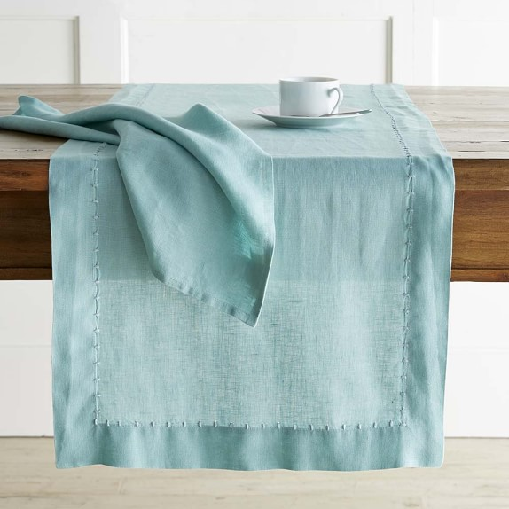 Washed Linen Table Runner, Bora Bora
