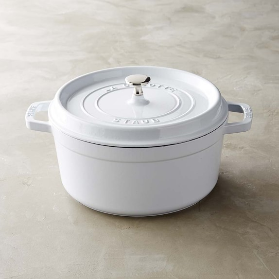 Staub Round Oven, 5 1/2-Qt., White