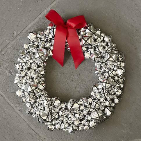 Jingle Bell Silver Wreath