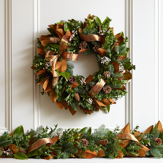 Copper Ribbon Garland