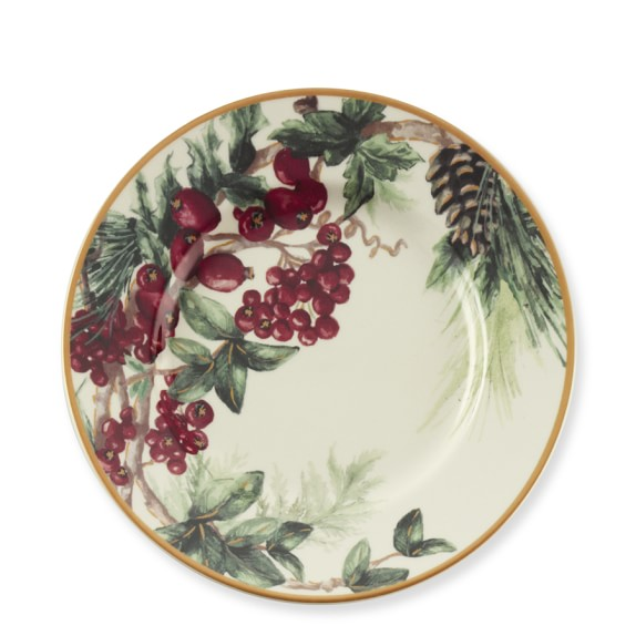 Botanical Wreath Salad Plates, Set of 4