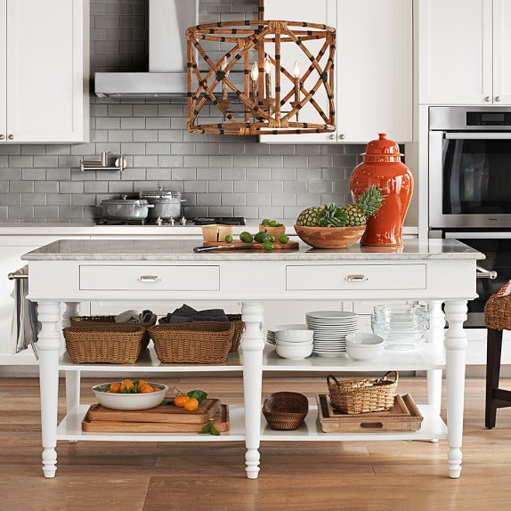 larkspur marble top kitchen island williams sonoma marble kitchen design tips via pinterest my warehouse home