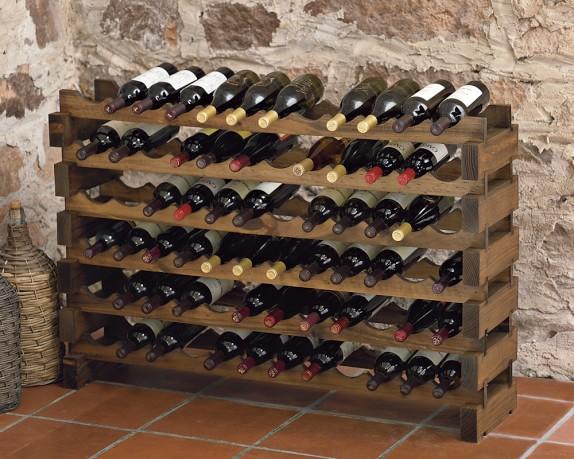 Modular australian pine wine racks williams sonoma for Easy wine rack