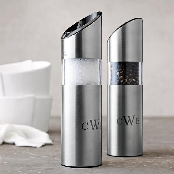 Automatic Salt Dispenser ~ Trudeau graviti electric salt pepper mills williams sonoma