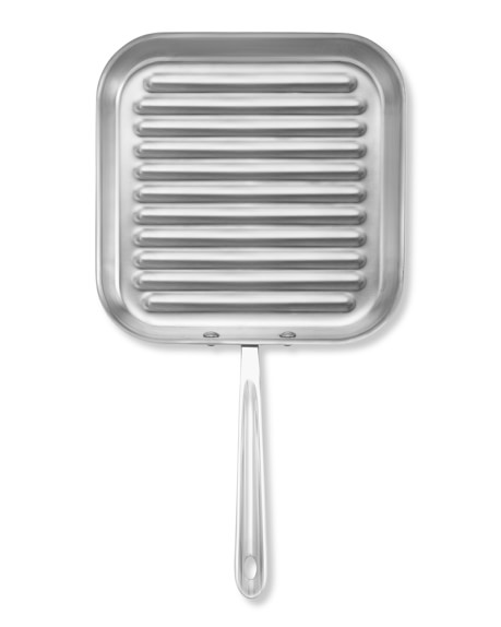 All-Clad d5 Stainless-Steel Square Grill Pan | Williams-Sonoma