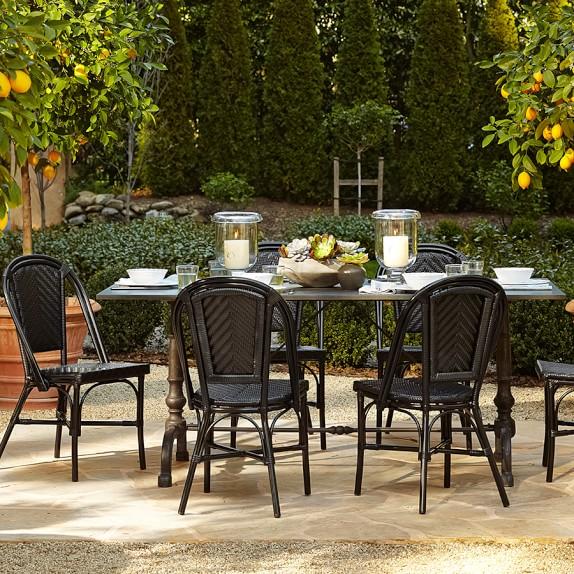 La Coupole Indoor Outdoor Dining Table Rectangular Pietra Cardoza Top