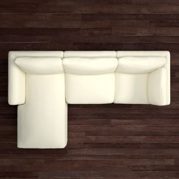 Williams sonoma 3 piece chaise sectional left williams for 3 piece chaise sectional