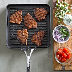 SHALLOW FRYING AND GRILL PANS