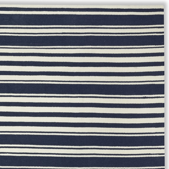 Riviera stripe indoor outdoor rug dress blue williams for Blue striped outdoor rug