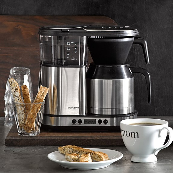 Bonavita Coffee Maker Williams Sonoma : Bonavita 5-Cup Digital Brewer with Stainless-Steel Carafe Williams-Sonoma