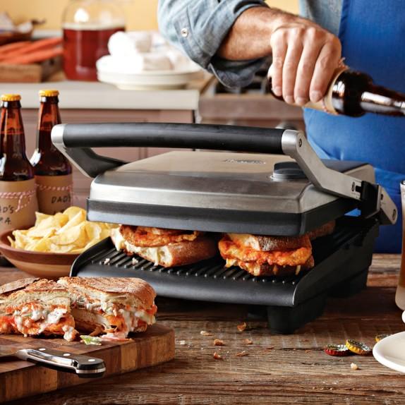 breville panini press grill williams sonoma. Black Bedroom Furniture Sets. Home Design Ideas