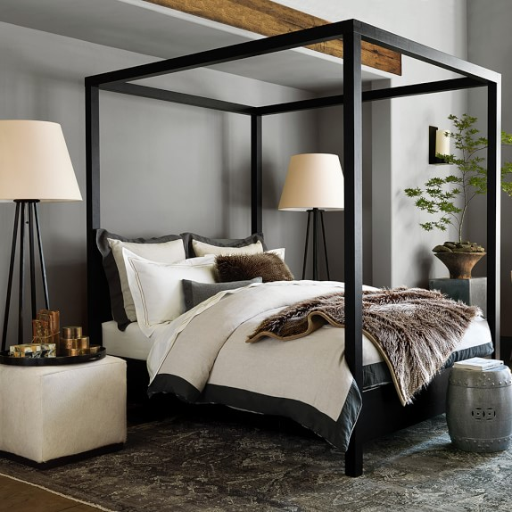hotel bedding williams sonoma home styles bedford canopy bed black beds at hayneedle