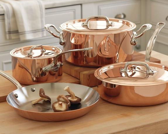 mauviel m150s copper 7 piece set williams sonoma. Black Bedroom Furniture Sets. Home Design Ideas