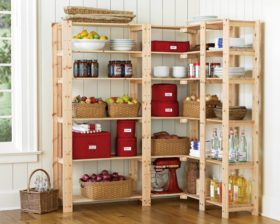 Swedish wood shelving williams sonoma for Ikea butlers pantry