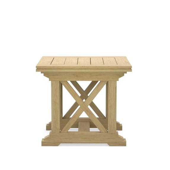 Somerset outdoor teak side table williams sonoma for Teak side table outdoor