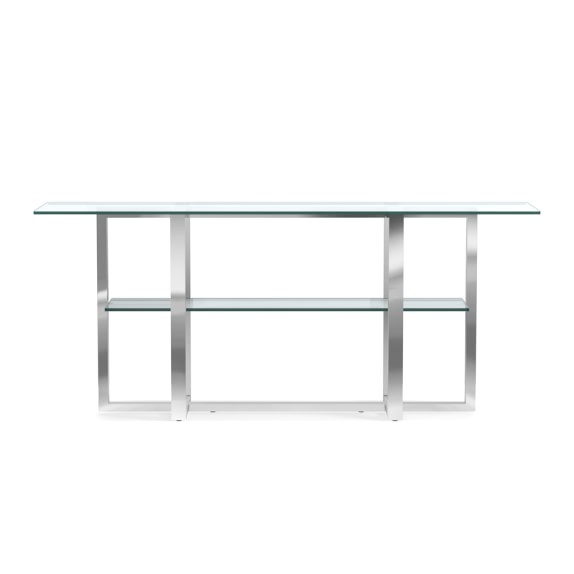 Mercer Console Table, Glass Top