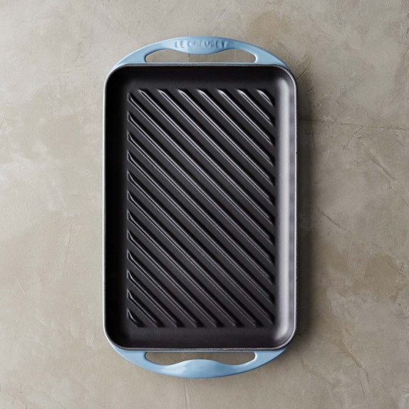 Le Creuset Cast-Iron Rectangular Skinny Grill, Marine Blue