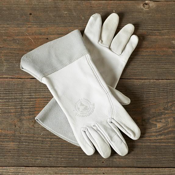 Gardeners Goat Skin Work Gloves, Medium