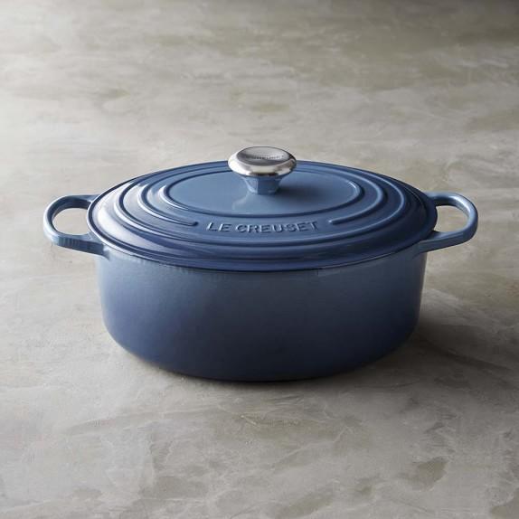 Le Creuset Signature Cast-Iron Dutch Oven, 6 3/4-Qt., Marine Blue