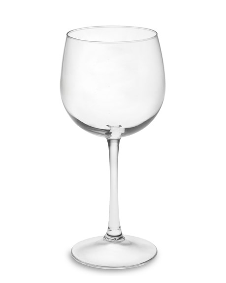 Plain Red Wine Glasses, Set of 4