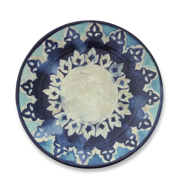 Blue Byzantine Dinner Plates, Set of 4