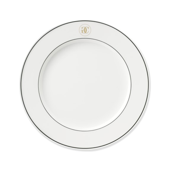 Williams-Sonoma Monogram Collection Salad Plates, Set of 4, Gold/Green