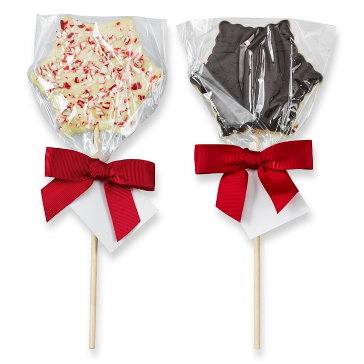 Peppermint Bark Snowflake Lollipop