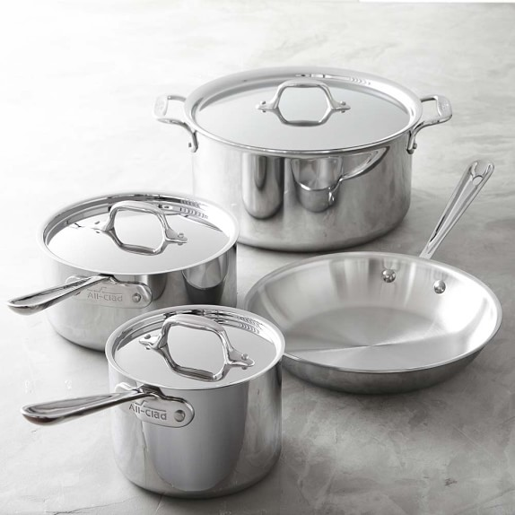All-Clad Tri-Ply Stainless-Steel Set, 7-Piece