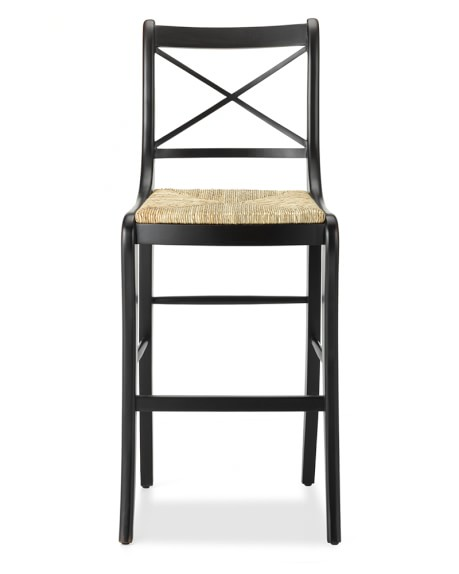 Madeleine Bar Stool, Dark Walnut