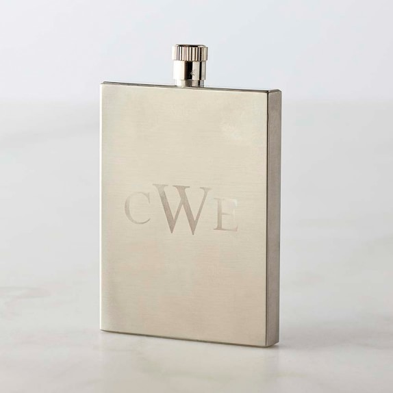 Slimline Stainless-Steel Flask, 3 oz.
