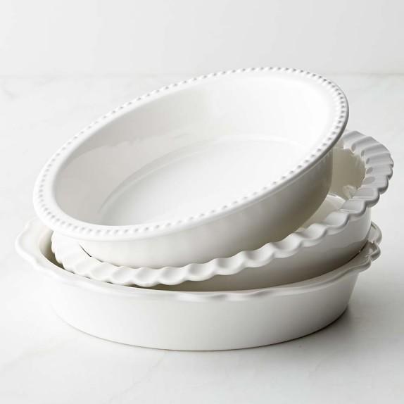 Ceramic Stoneware Baking : Williams sonoma stoneware pie dish set of