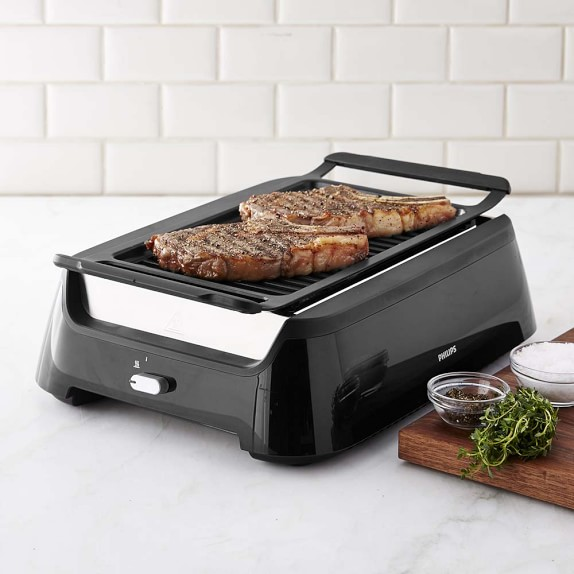 Philips Smoke Less Grill With Bbq Amp Steel Wire Grids