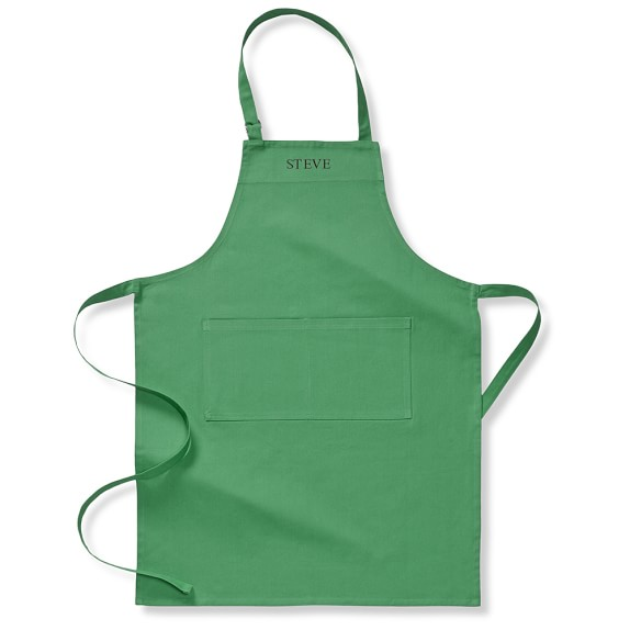 Williams-Sonoma Personalized Seasonal Solid Apron, Kelly Green