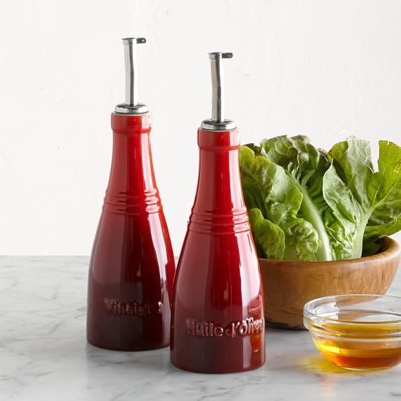 Le Creuset Oil & Vinegar Cruet Set, Red