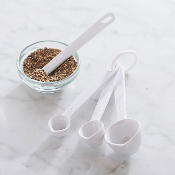 Williams-Sonoma Melamine Measuring Spoons, White