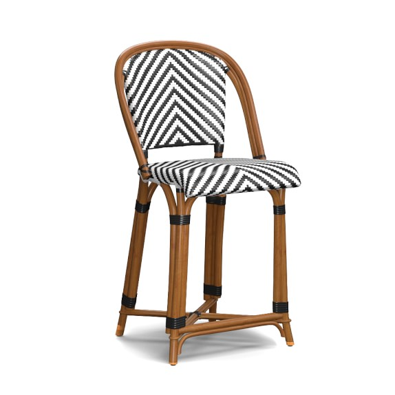 Parisian Bistro Woven Counter Stool Williams Sonoma