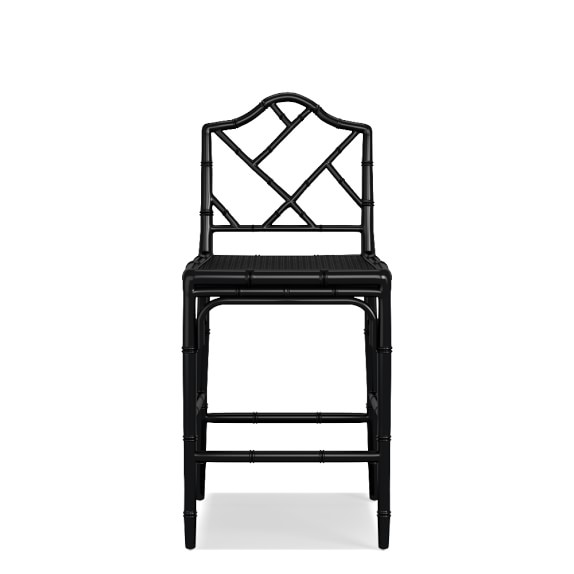 Chippendale Stool Frame Only, Counter, Black