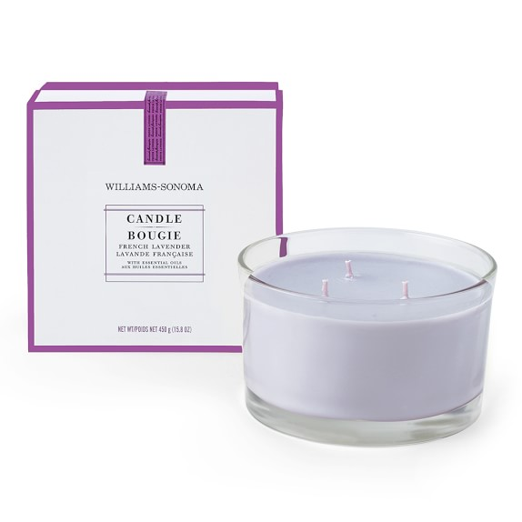 Williams-Sonoma Essential Oils Triple-Wick Candle, French Lavender